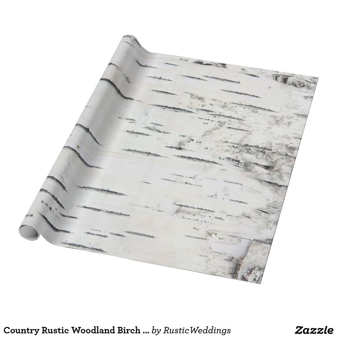 Country Rustic Woodland Birch Tree Bark Wring Paper