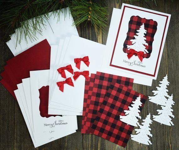 Diy Christmas Card Making Kits Merry Christmas Card Kit Etsy Diy Christmas Cards Christmas Cards Christmas Cards Handmade