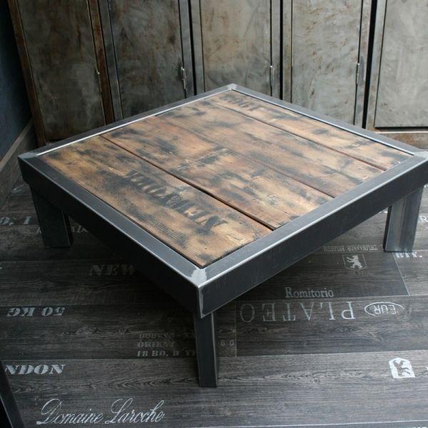 Table palette loft Lofts, Metallic furniture and Metal furniture - meuble en fer design