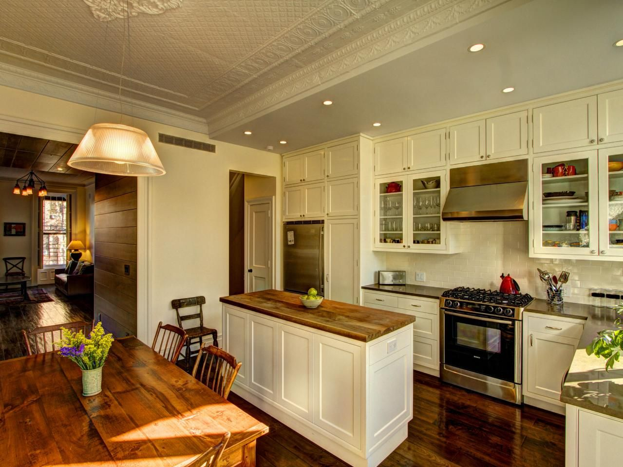 Pictures of kitchen cabinets ideas inspiration from for Hgtv galley kitchen ideas