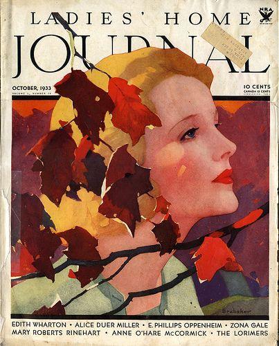 Ladies Home Journal October 1933 Magazine Illustration Vintage Paper Dolls October Art
