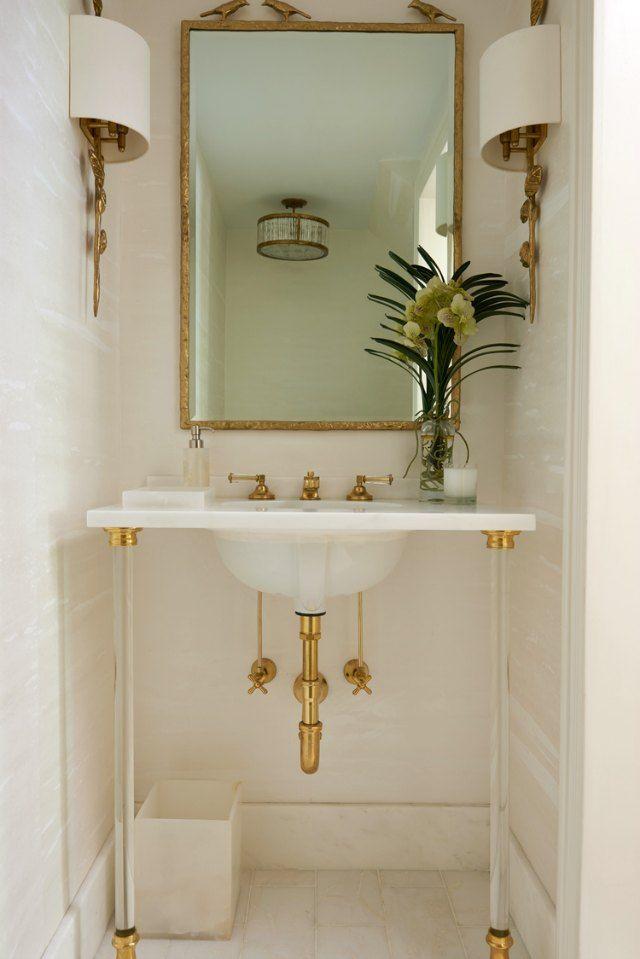bathroom small space design%0A    Pretty Powder Rooms