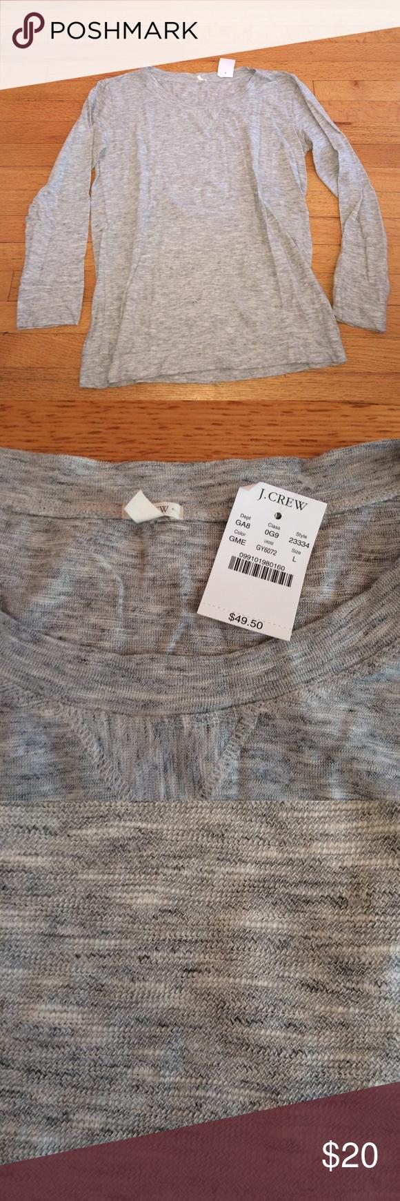 NWT J.Crew Light Grey Shirt NWT J.Crew Light Grey Shirt . Brand new, size large. 90% cotton, 10% wool. J. Crew Tops Tees - Long Sleeve