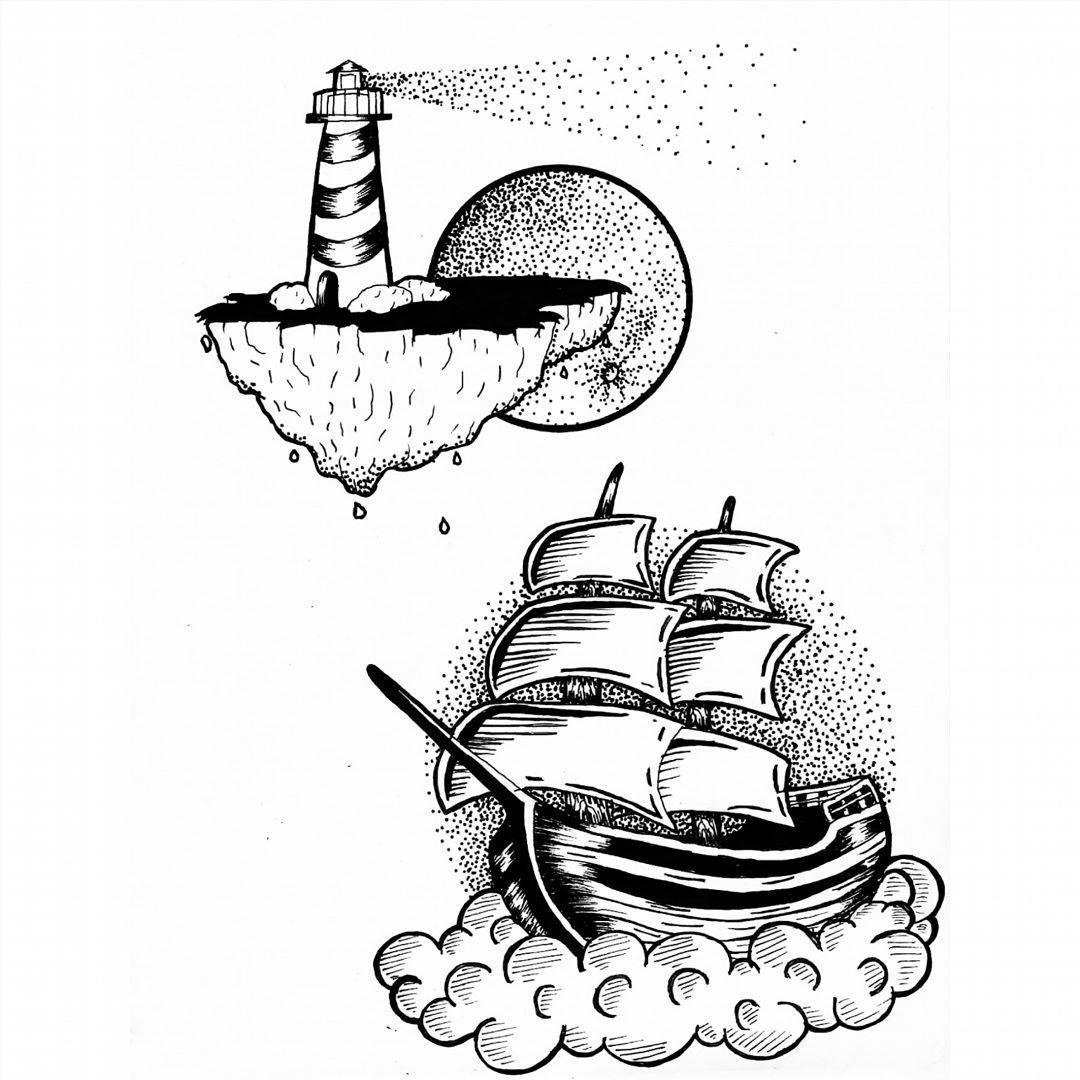 Fresh WTFDotworkTattoo Find Fresh from the Web ..as we travel the universe! #faro #barco #boat #ship #lighthouse #moon #orangemoon #dots #dotwork #blackwork #planetcaravan #blacksabbath #paranoid #pantera #chill #repostseverywhere omar_carest WTFDotWorkTattoo