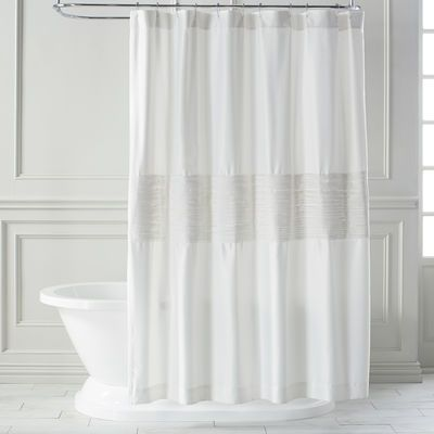 Genevieve Ivory Shower Curtain Shower Curtain Unique Curtains