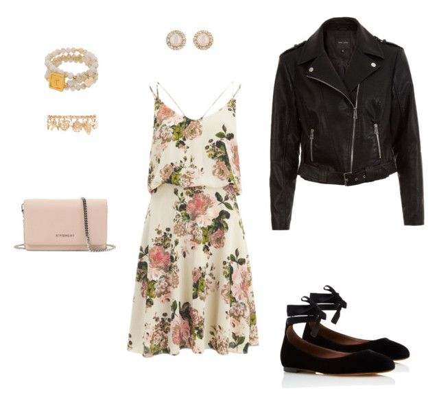 """""""Romantic"""" by nataliazagorna on Polyvore featuring VILA, New Look, Tabitha Simmons, Forever 21, Kate Spade and Givenchy"""