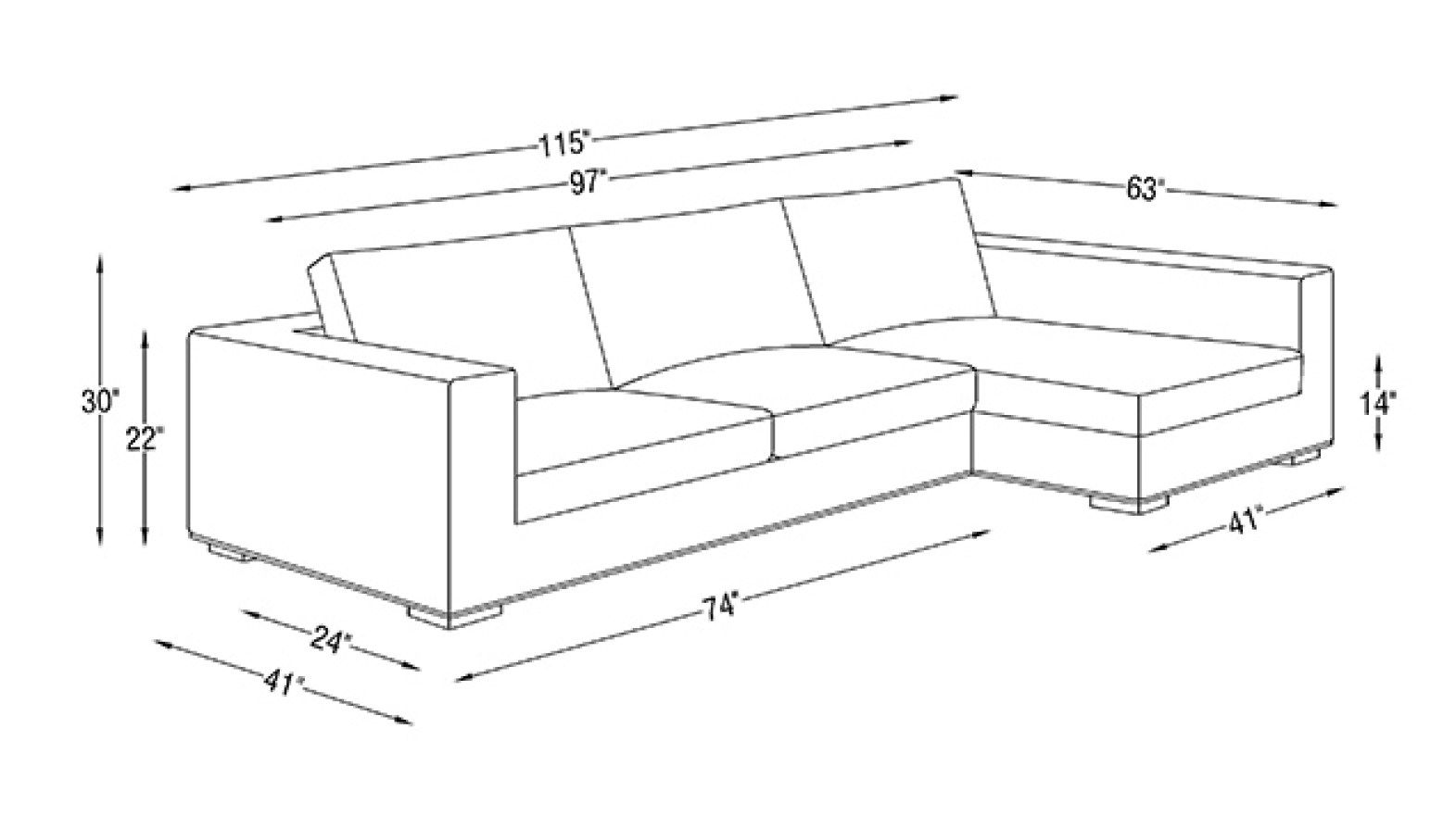 Image Result For Sofa Size In Feet Sectional Sofa White Sectional Sofa Modern Sofa Sectional
