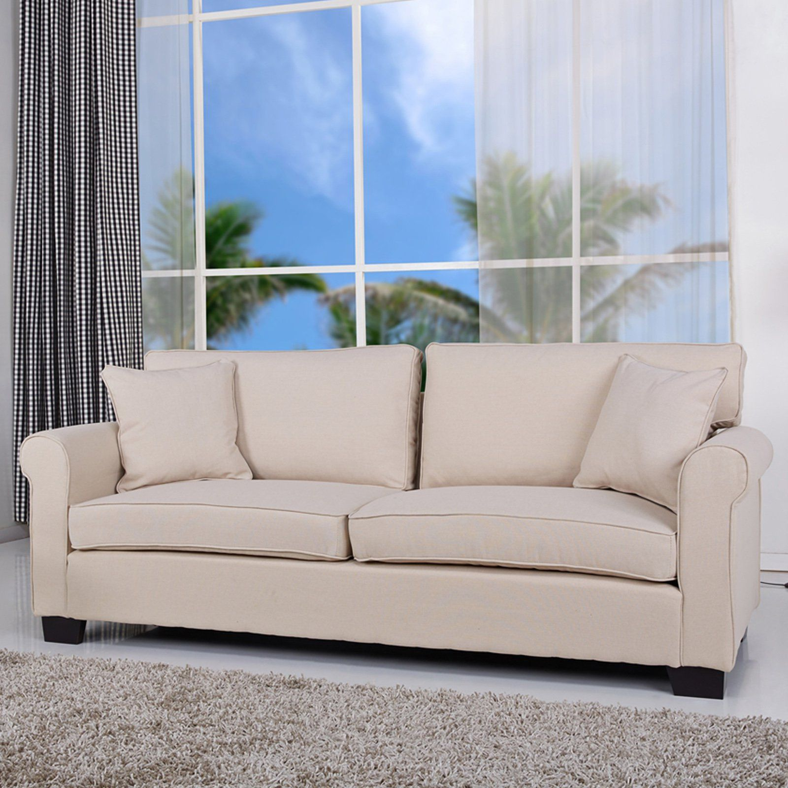 Gold Sparrow Pittsburgh Microfiber Sofa With