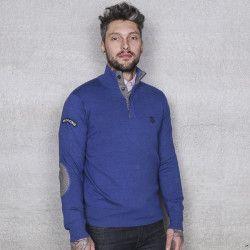 Riverwoods-Sweater Mockneck blauw