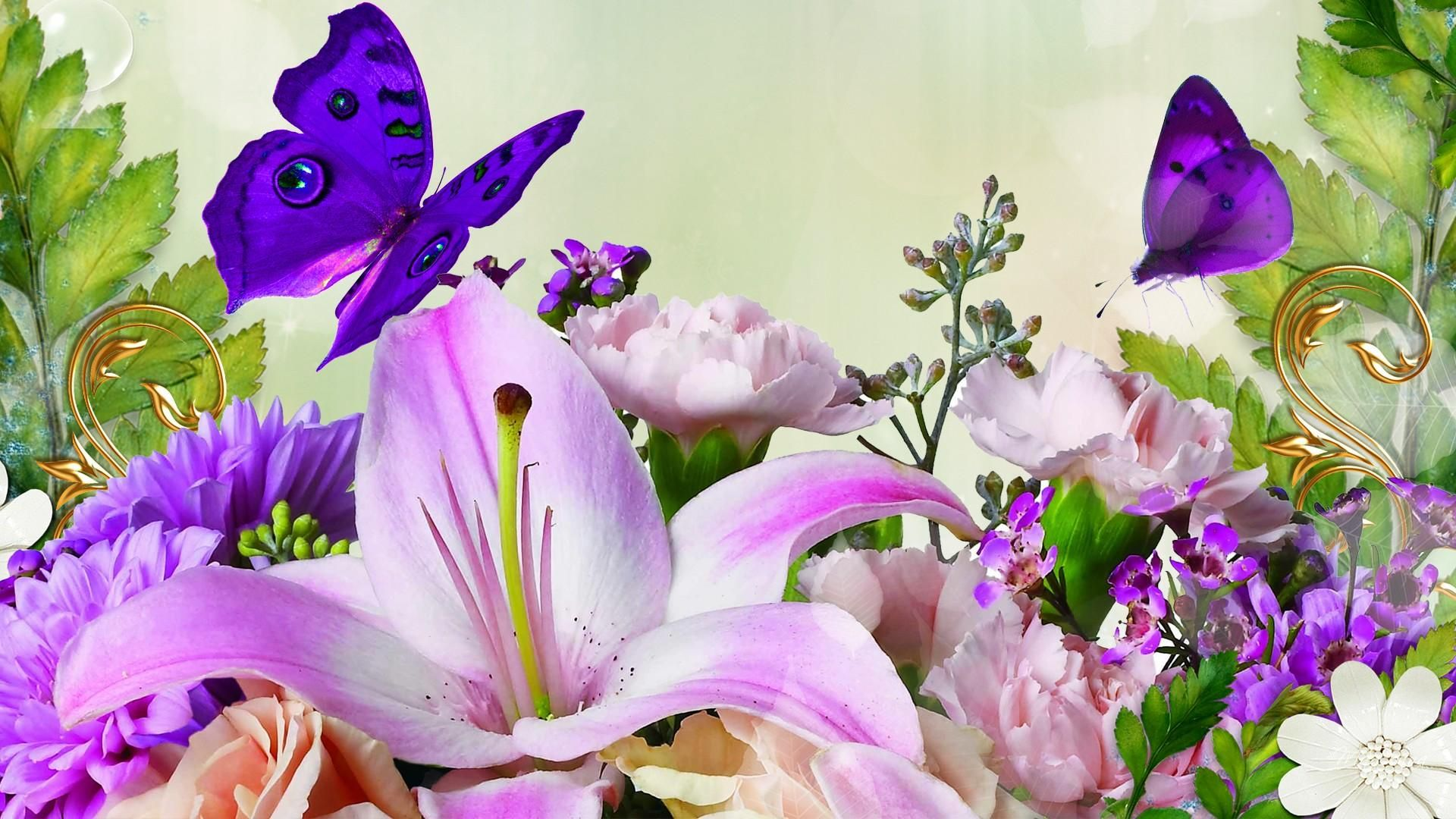 Lilies spring flowers wallpaper fandom pinterest spring