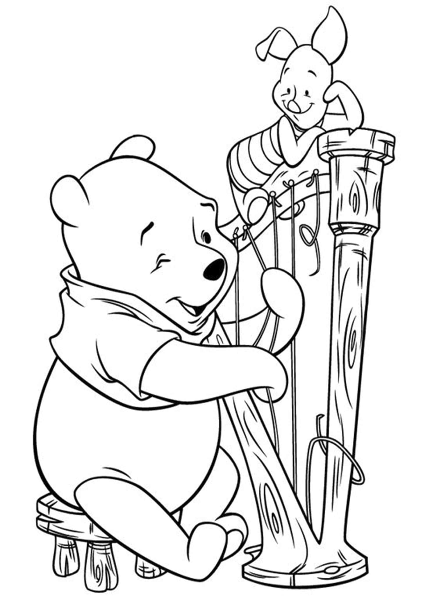 Free Easy To Print Winnie The Pooh Coloring Pages Cartoon Coloring Pages Winnie The Pooh Pictures Disney Coloring Pages