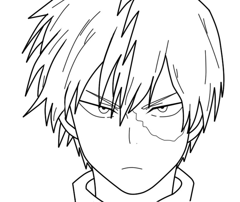 Todoroki In Progress By Otarun90 On Deviantart Anime Character Drawing Anime Drawings Tutorials Anime Lineart