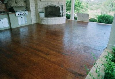 Concrete Stained To Look Like Wood Might Do Seething