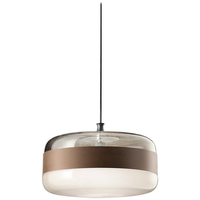 Vistosi Futura Spg Pendant Light In Smoke By Hangar Design Group Blown Glass Pendant Vistosi Glass Pendant Lamp