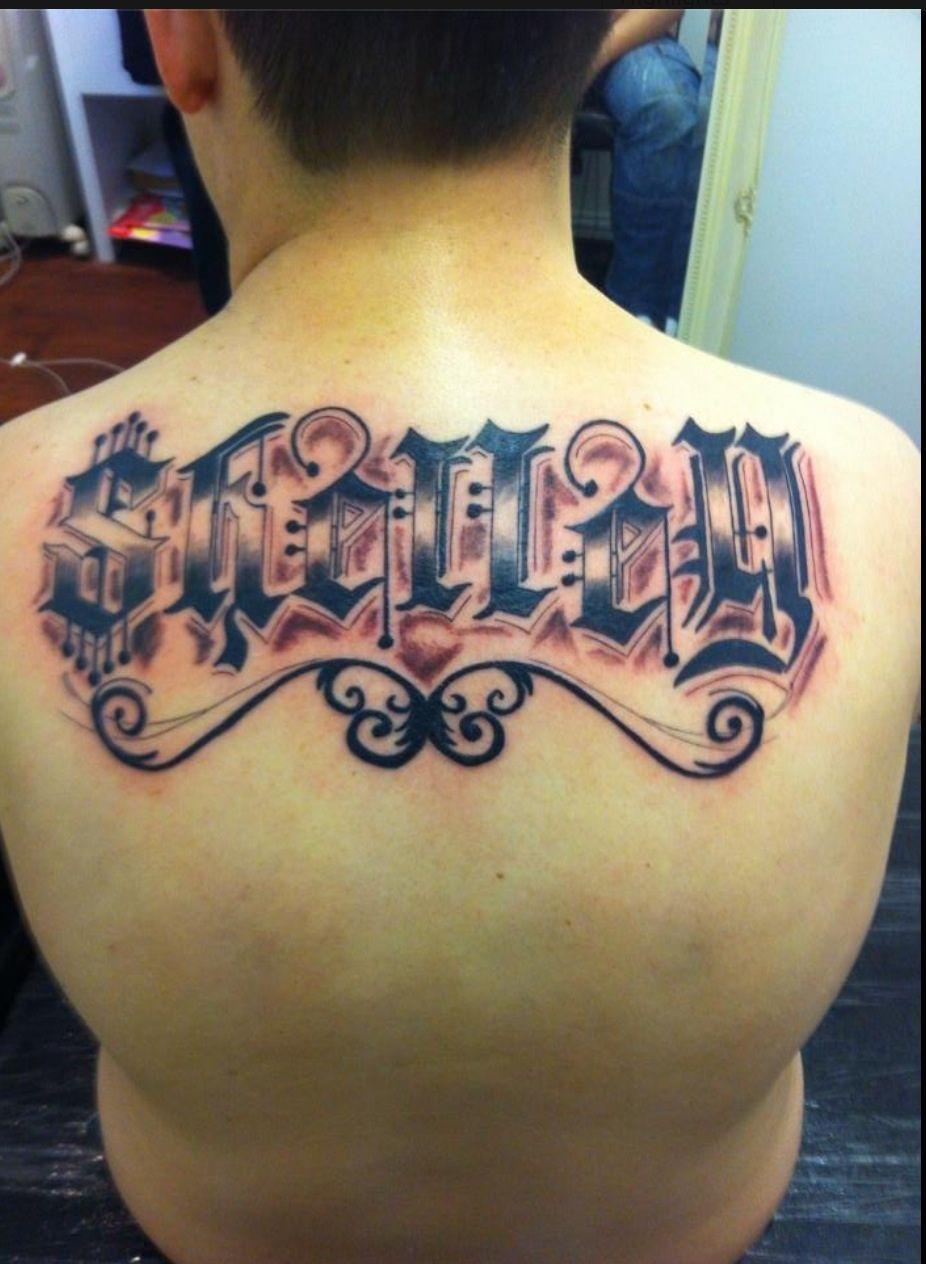 By Griggysmalls Tattoo Backtattoo script tattooscript