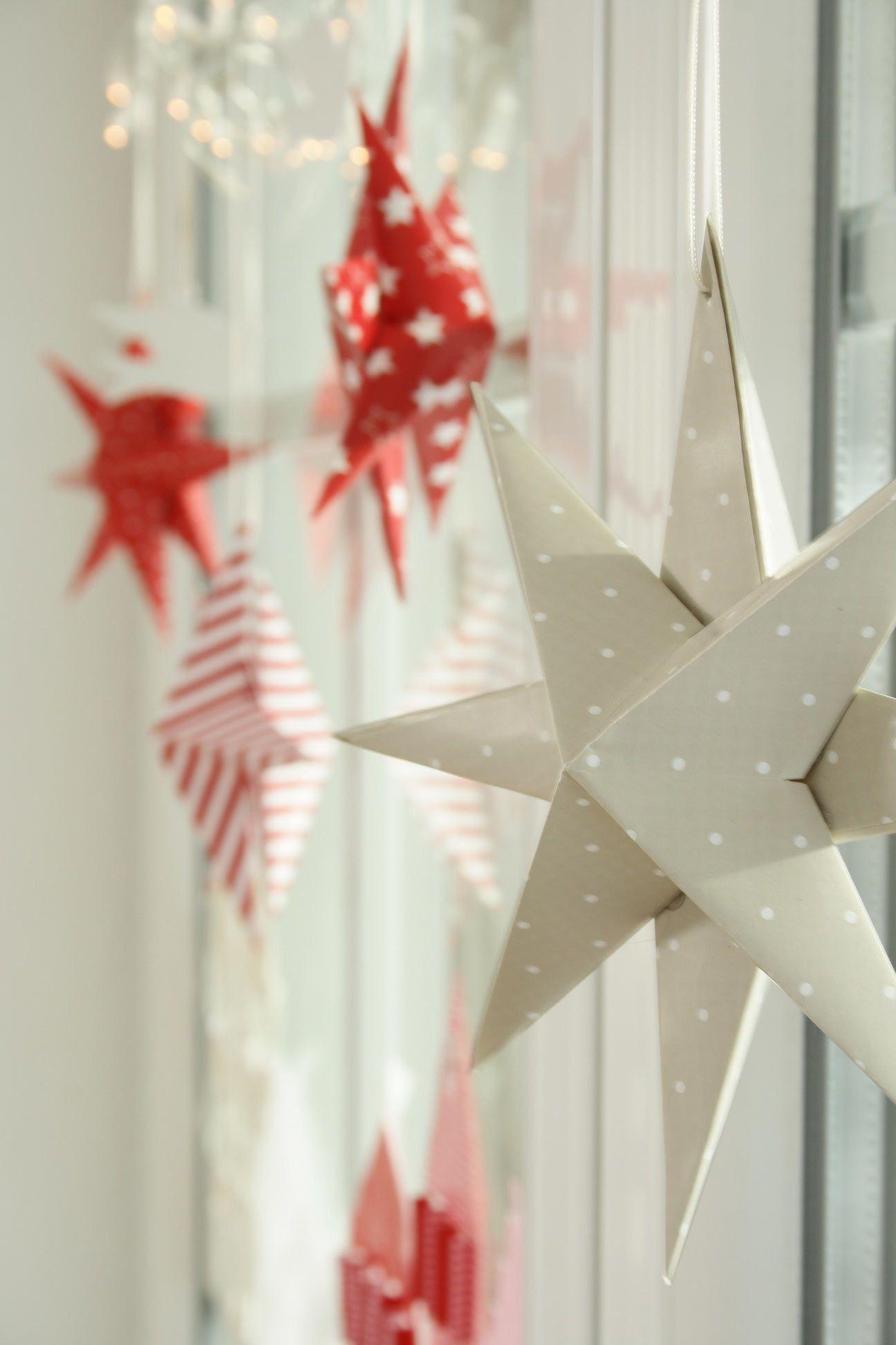 Diy dezember teil 1 ideen aus papier weihnachten pinterest - Fensterdeko weihnachten schule ...