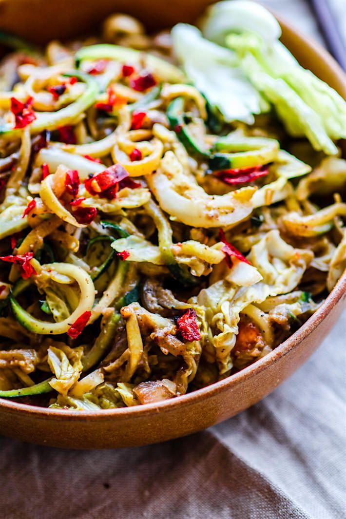 Cashew Satay Spiralized Vegetable Stir Fry Paleo Vegan Cotter Crunch Vegetarian Stir Fry Recipes Vegetable Stir Fry Recipe Vegetarian Stir Fry