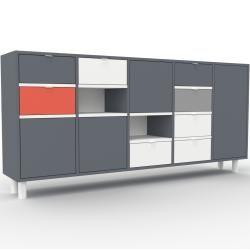 Sideboard Anthrazit – Sideboard: Schubladen in Weiß & Türen in Anthrazit – Hochwertige Materialien