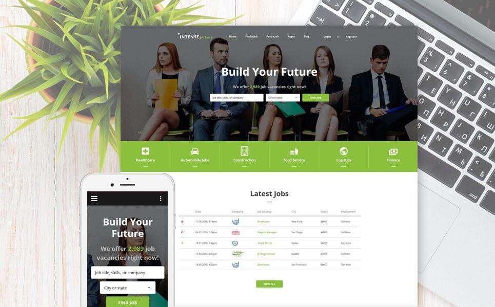 Job Application Templates%0A  u   cb u   eEmployment Responsive Web Template u   c  b u   e is aimed for a job