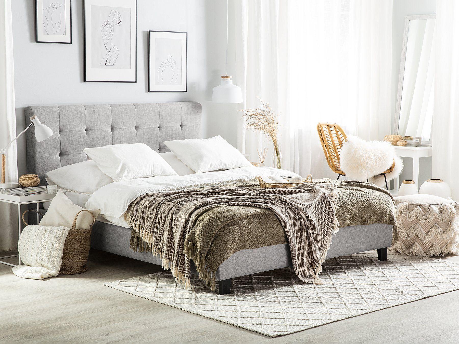 Pin Von Janeczku Auf Wohnzimmer Graues Bett Kopfteil Bett Polsterbett