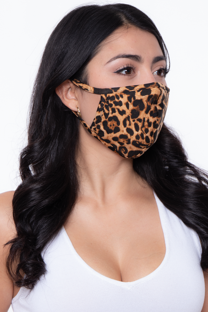 Photo of Washable & Reusable Printed Face Mask – Leopard