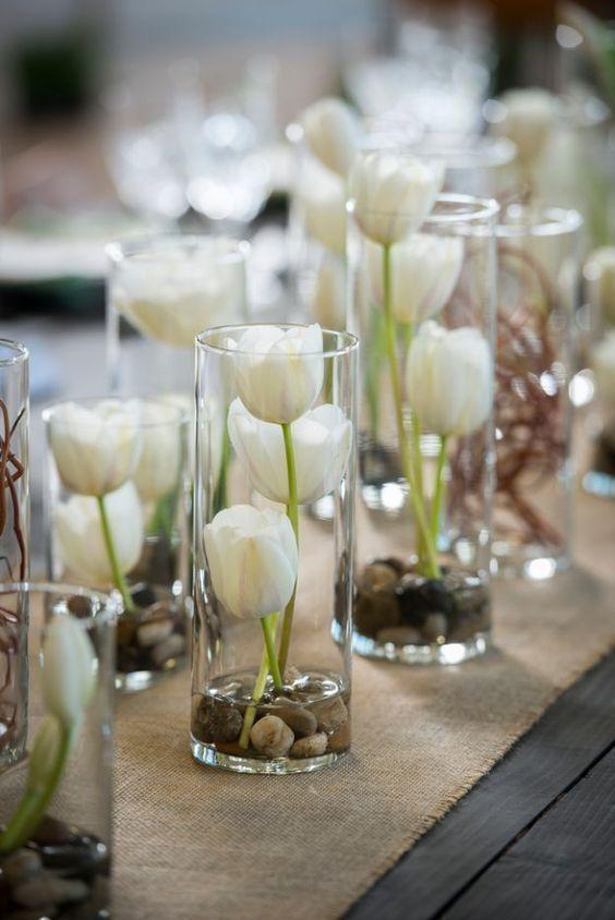 Diy wedding centerpieces tulips in glass vases do it yourself diy wedding centerpieces tulips in glass vases do it yourself ideas for brides and best centerpiece ideas for weddings step by step tutorials junglespirit Image collections