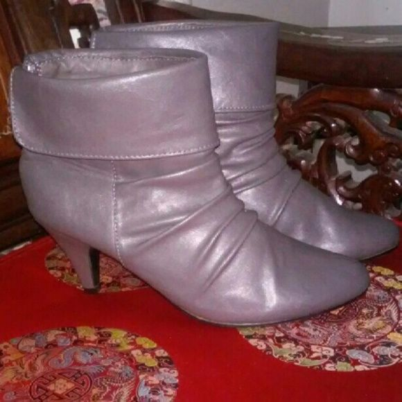 Ankle boots Only worn one time low heel and comfortable Breckelles Shoes Heeled Boots