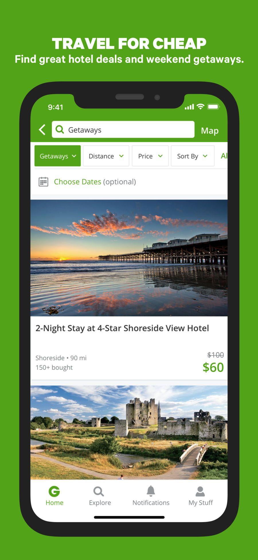 Groupon Ios Drink App Apps Drink App Stay The Night Weekend Getaways
