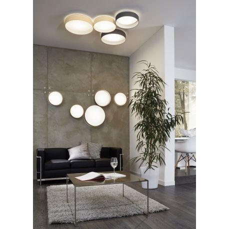 Plafonnier rond - Luminaire Palomaro anthracite Living rooms
