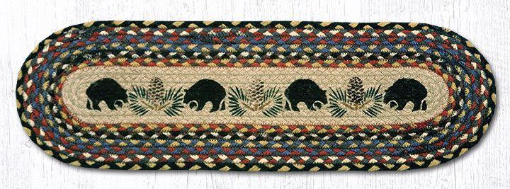 Best St Op 043 Black Bears Stair Tread Stair Tread Rugs 640 x 480