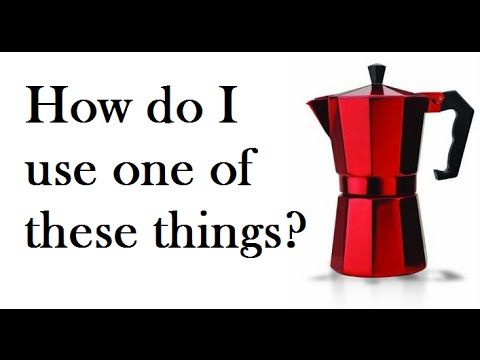 how to use stove top espresso maker