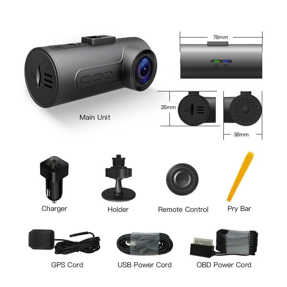 halocam c1 plus car dash cam fhd 1080p car cam wifi dashboard camera rh pinterest com