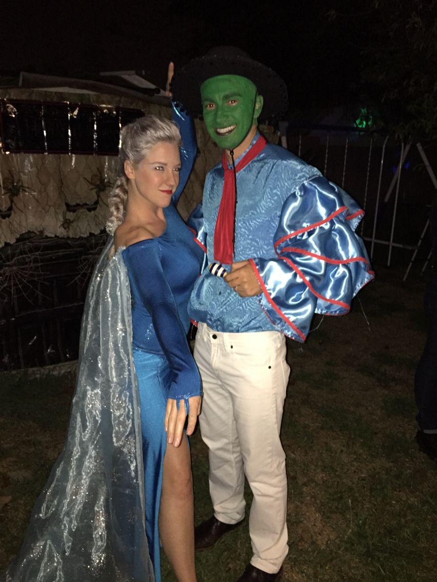 Halloween costumes. Queen Elsa from Disney's Frozen and Cuban Pete ...