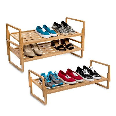 Honey Can Do 3 Tier Nesting Bamboo Shoe Rack Adult Unisex Brown