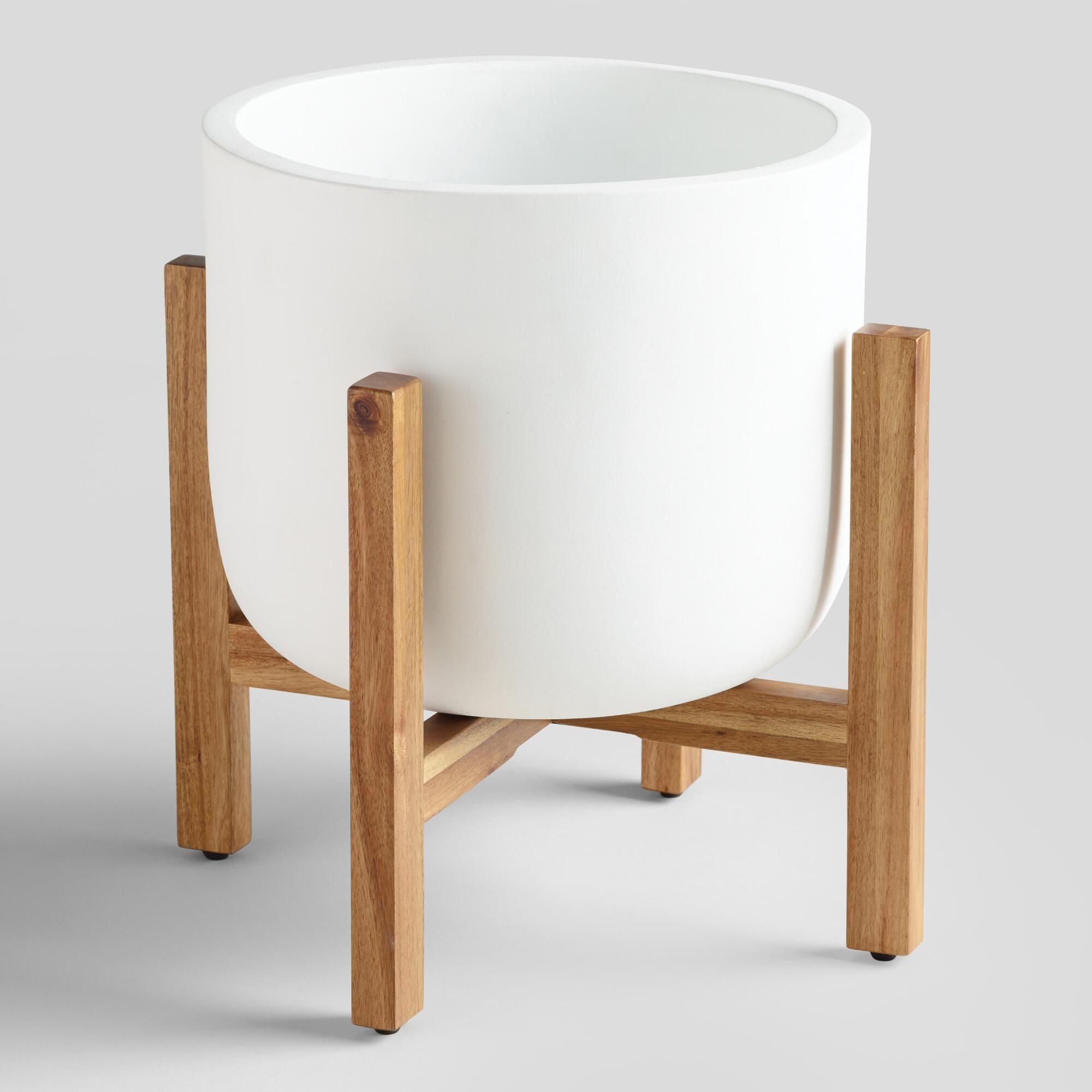 ceramic sevilla outdoor patio planter white white large by world rh co pinterest com