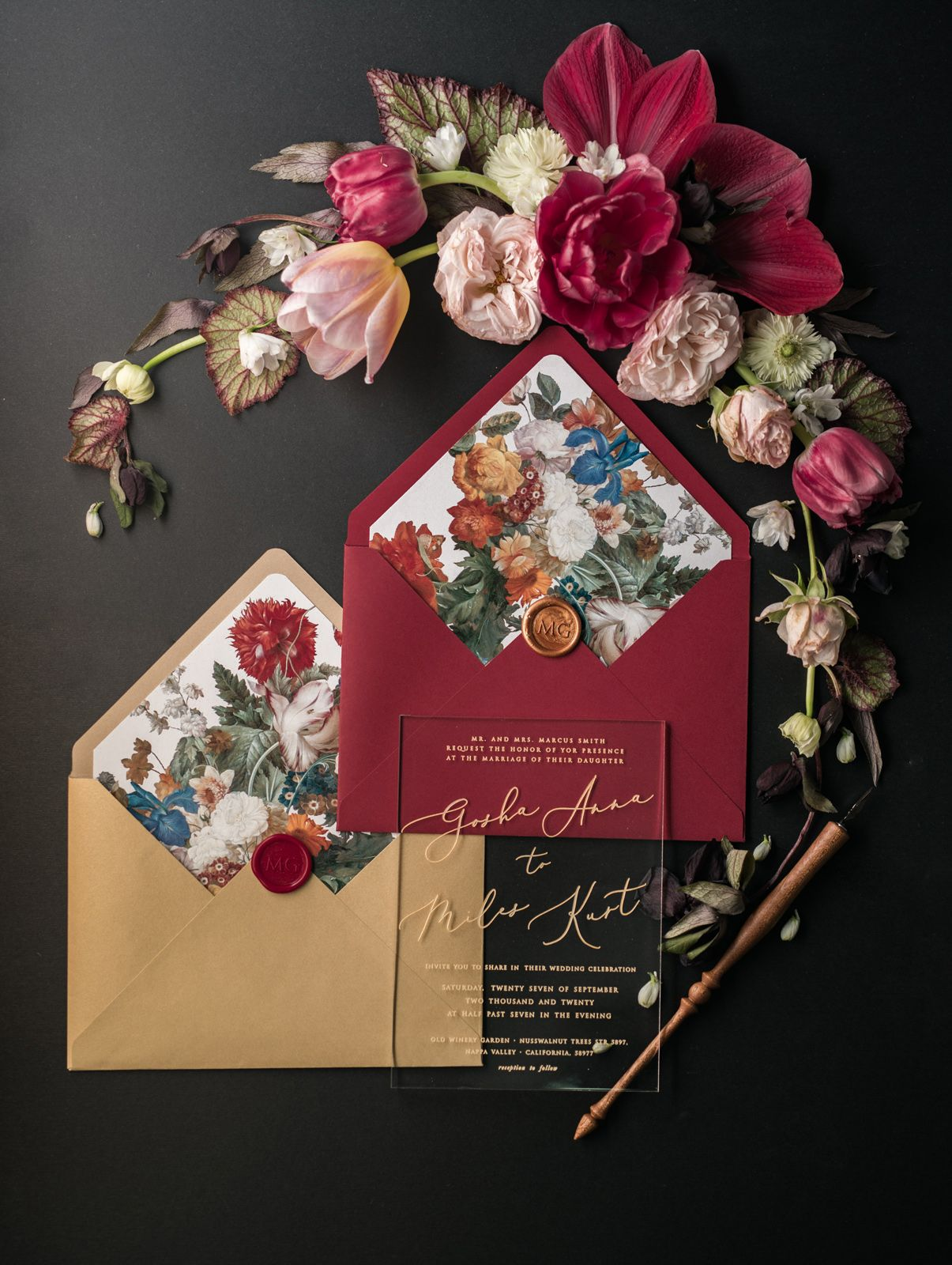 Magnificent Mr And Mrs Smith Wedding Invitation Component
