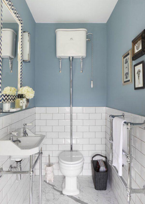 Ambiance anglaise dans les WC DIY