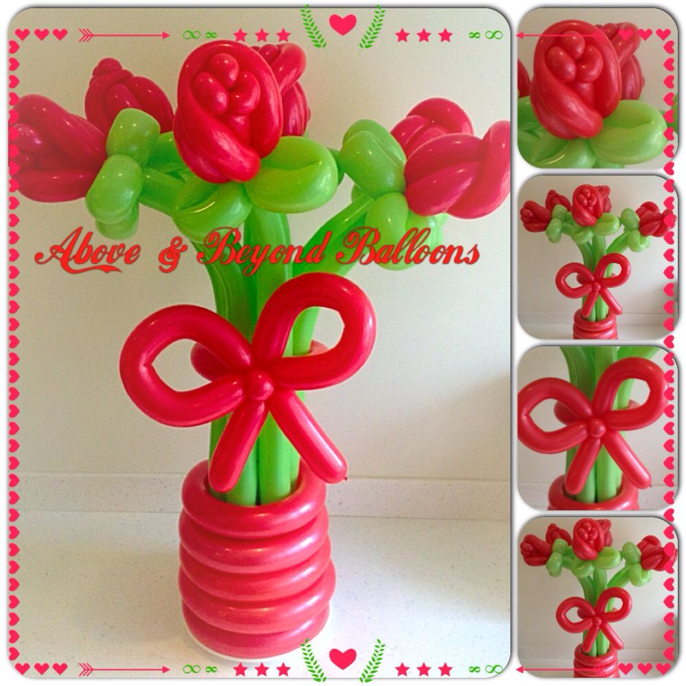 Flower bouquet balloon decorations balloon flowers