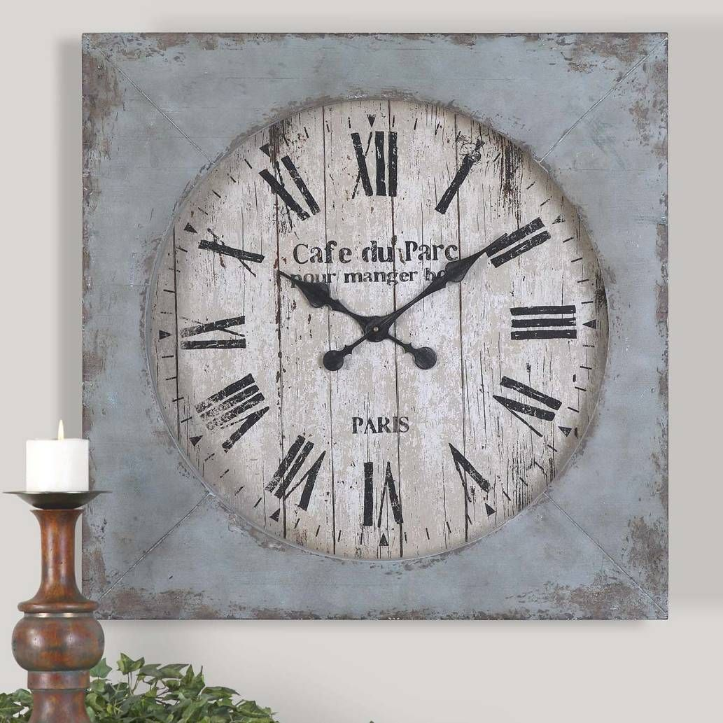 product image for uttermost paron 29 inch wall clock 2 out of 2 rh in pinterest com