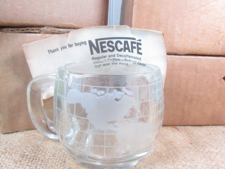 Glass mugs,Nescafé mugs, drinking glass,coffee mugs,World