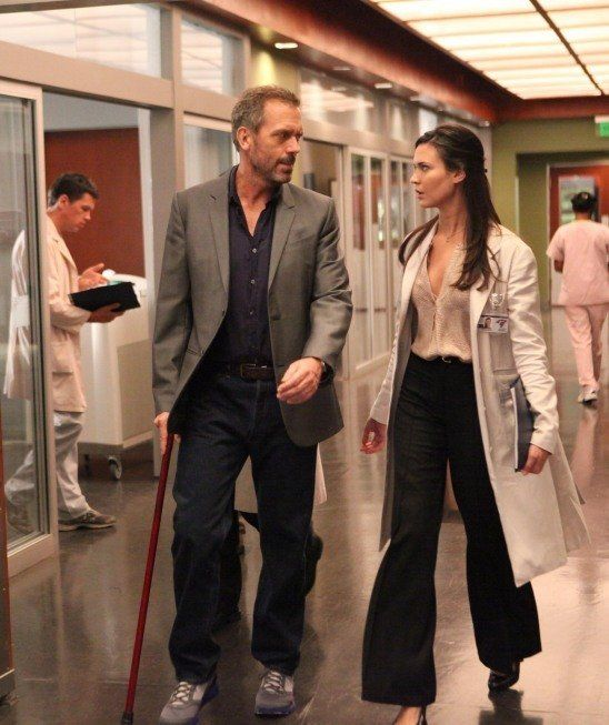 still of hugh laurie and odette annable in house m d 2004 house rh pinterest com