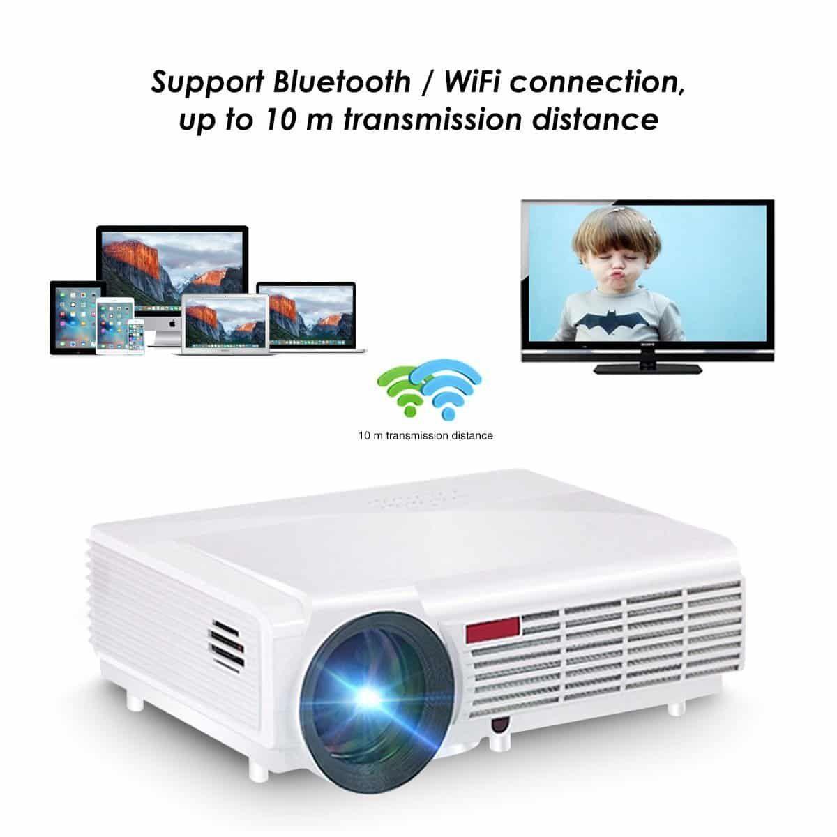 Brightness 5500lumens Long Life Led Full Hd Led Home: Wifi Projector,ELEGIANT 3000 Lumens Long Life LED Full HD