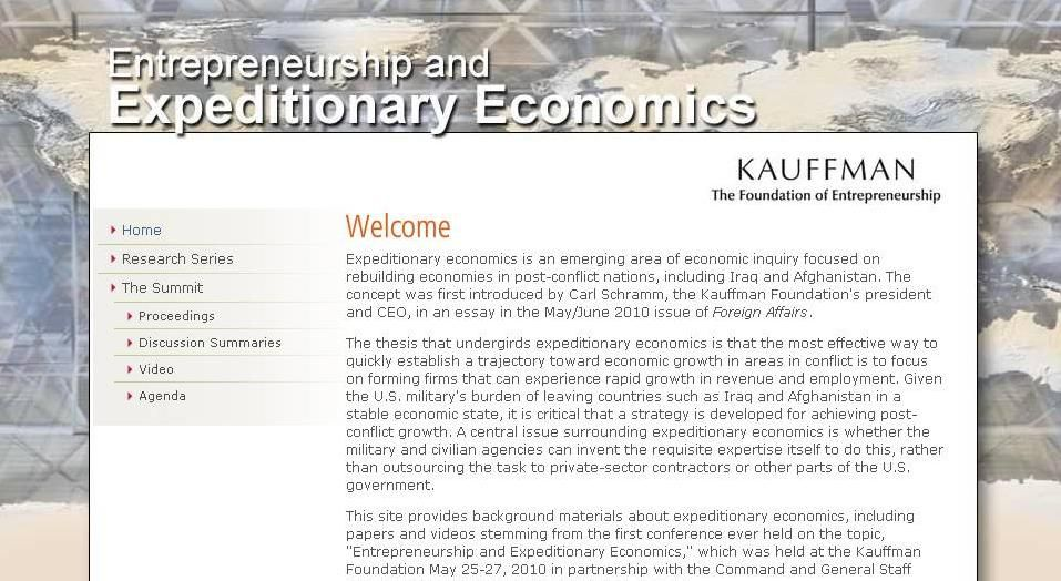 What is expeditionary economics? - an entrepreneurship-based