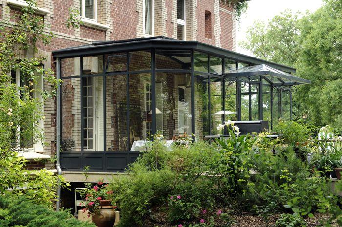 Terrasse vid e en dessous partiellement plant e accessible verriere terraces veranda - Verriere jardin d hiver ...