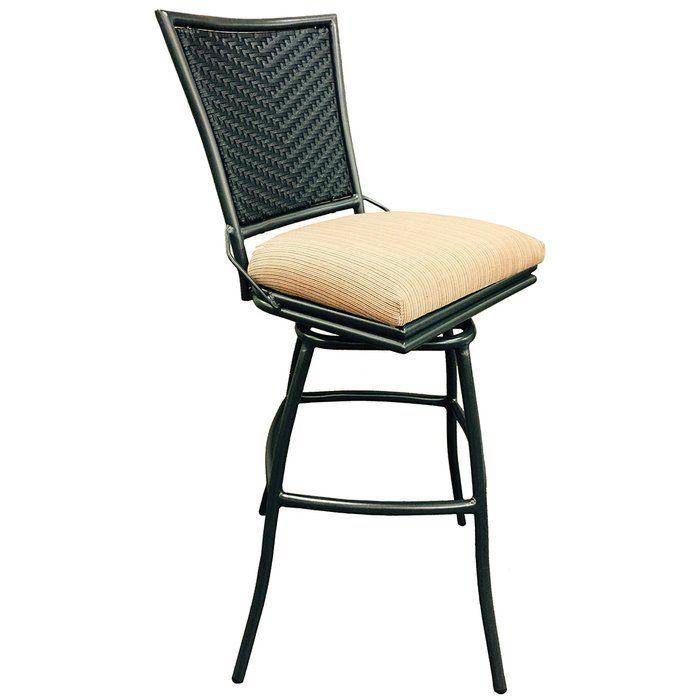 erin 35 patio bar stool with cushion outdoor kitchen pinterest rh pinterest com