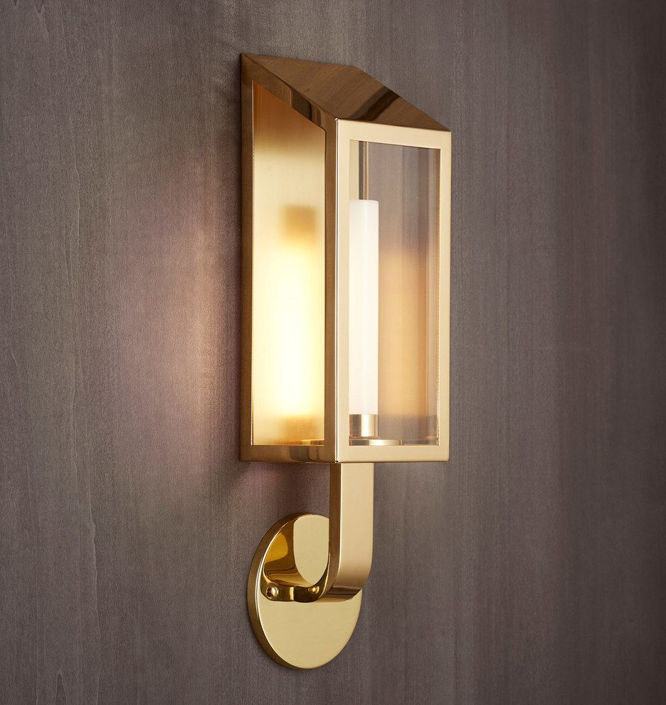 lombard lantern small led wall sconce rejuvenation remodeling rh pinterest com