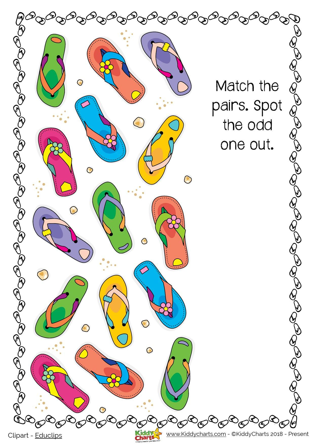 Day 5 Summer Odd One Out Printable Activity