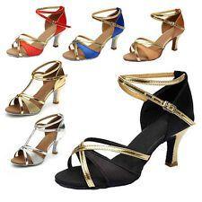 Brand New Womens Ballroom Latin Tango Dance Shoes heeled Salsa 6 Colors 255SW Brand New Womens Ballroom Latin Tango Dance Shoes heeled Salsa 6 Colors 255SW