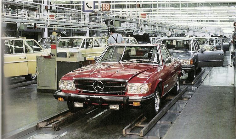 R107 Mercedes Benz Sl Manufacturers Assembly Line The Best Or Nothing The One And Only Mercedes Benz Classic Mercedes Benz Classic Mercedes