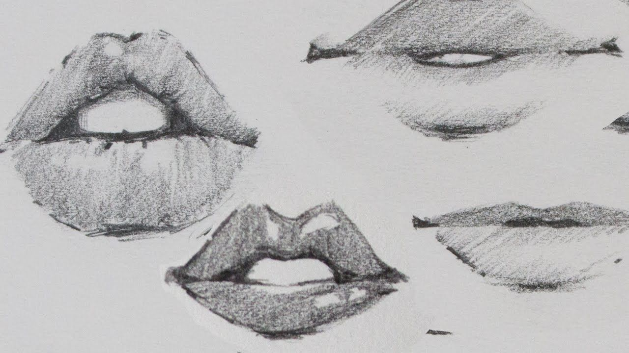 How to Draw Lips Traditional or Manga Lips drawing